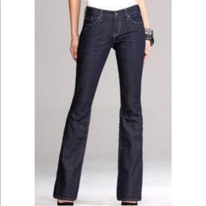 Express Eva Fit And Flare Dark Wash Jeans
